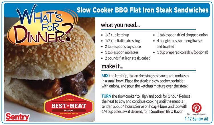 BBQ Flat Iron Sandwich