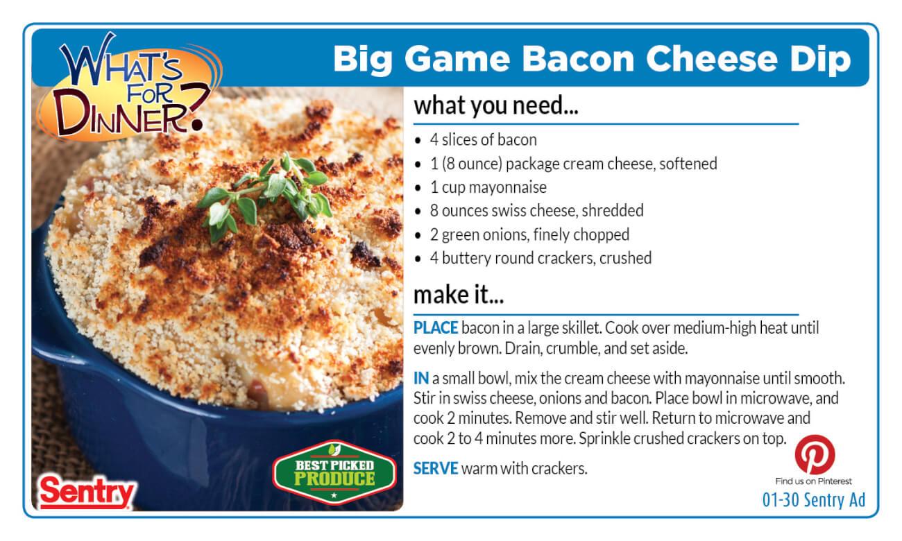 Big Game Bacon Cheese Dip