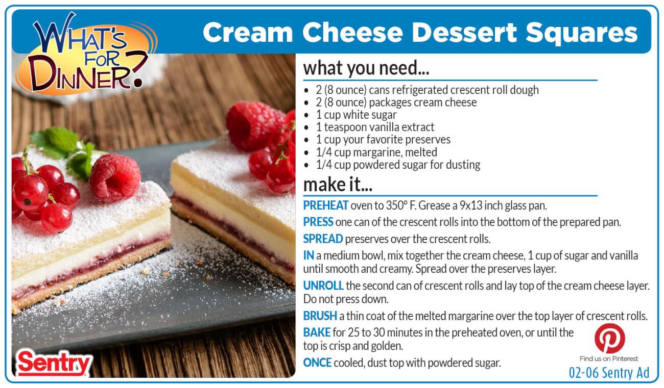Cream Cheese Dessert Squares