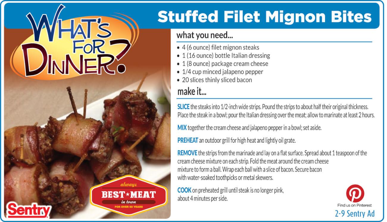 Stuffed Filet Mignon Bites
