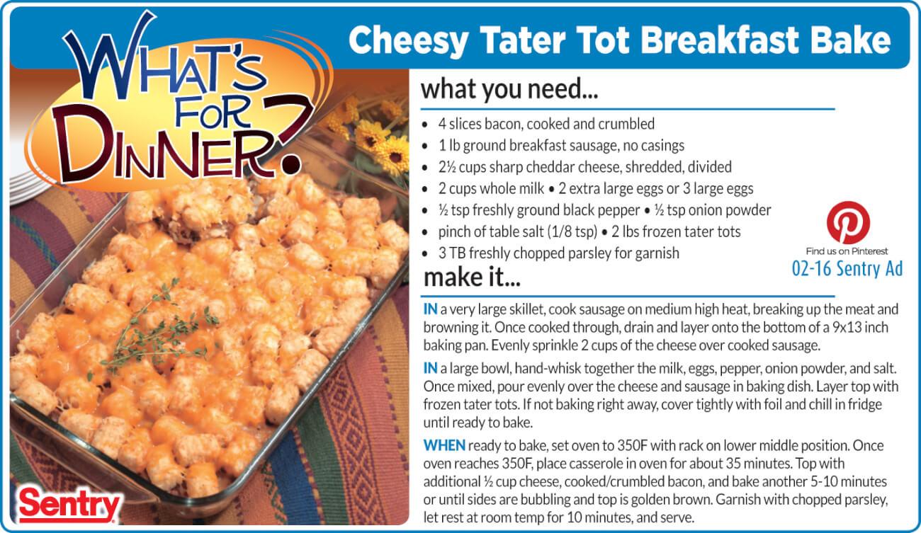 Cheesy Tater Tot Hot Dish