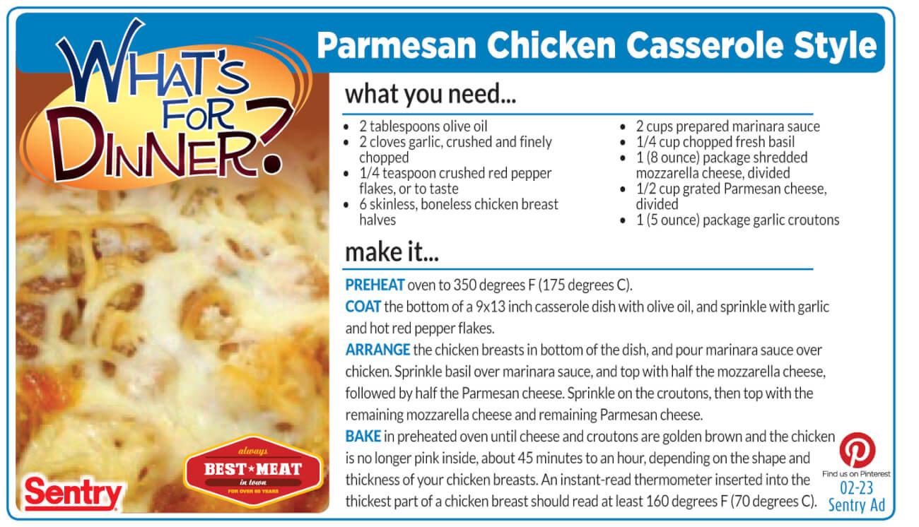 Parmesan Chicken Casserole Style