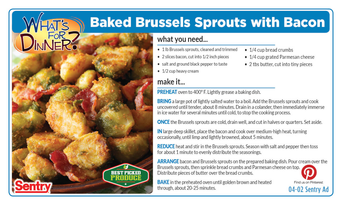 Baked Brussel Sprouts with Bacon