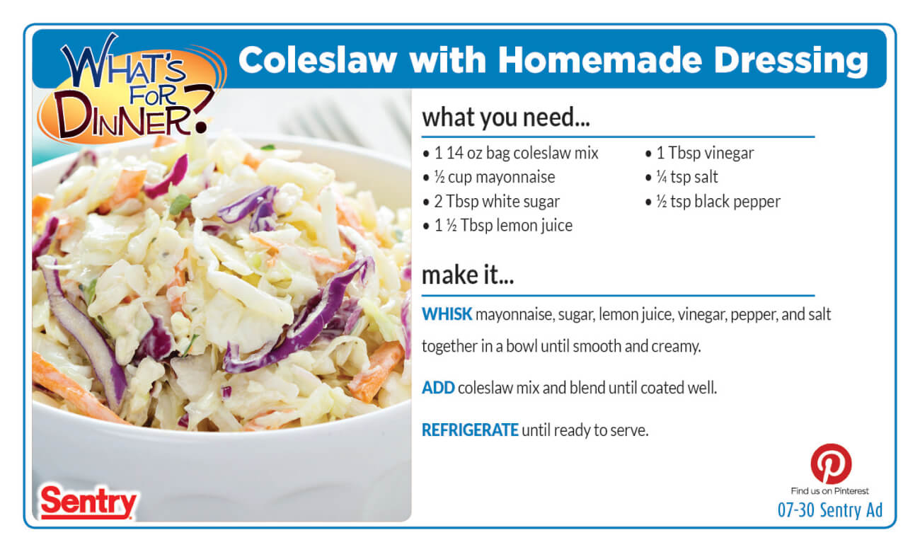 Coleslaw with Homemade Dressing
