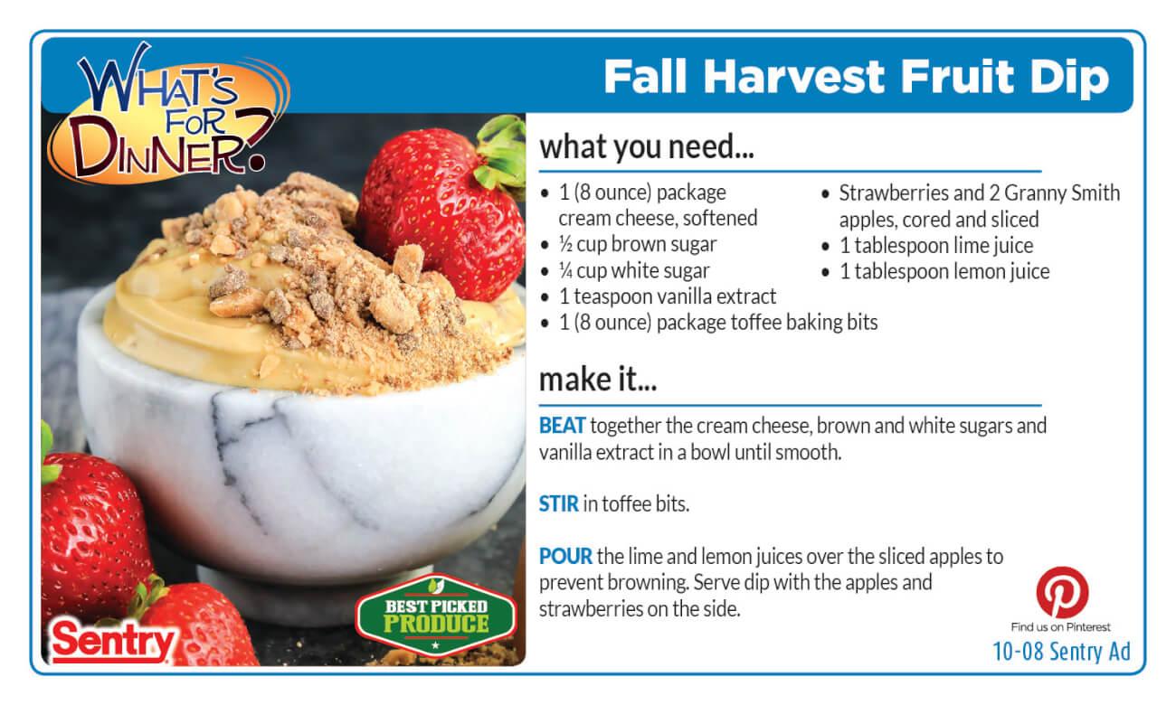 Fall Harvest Fruit Dip