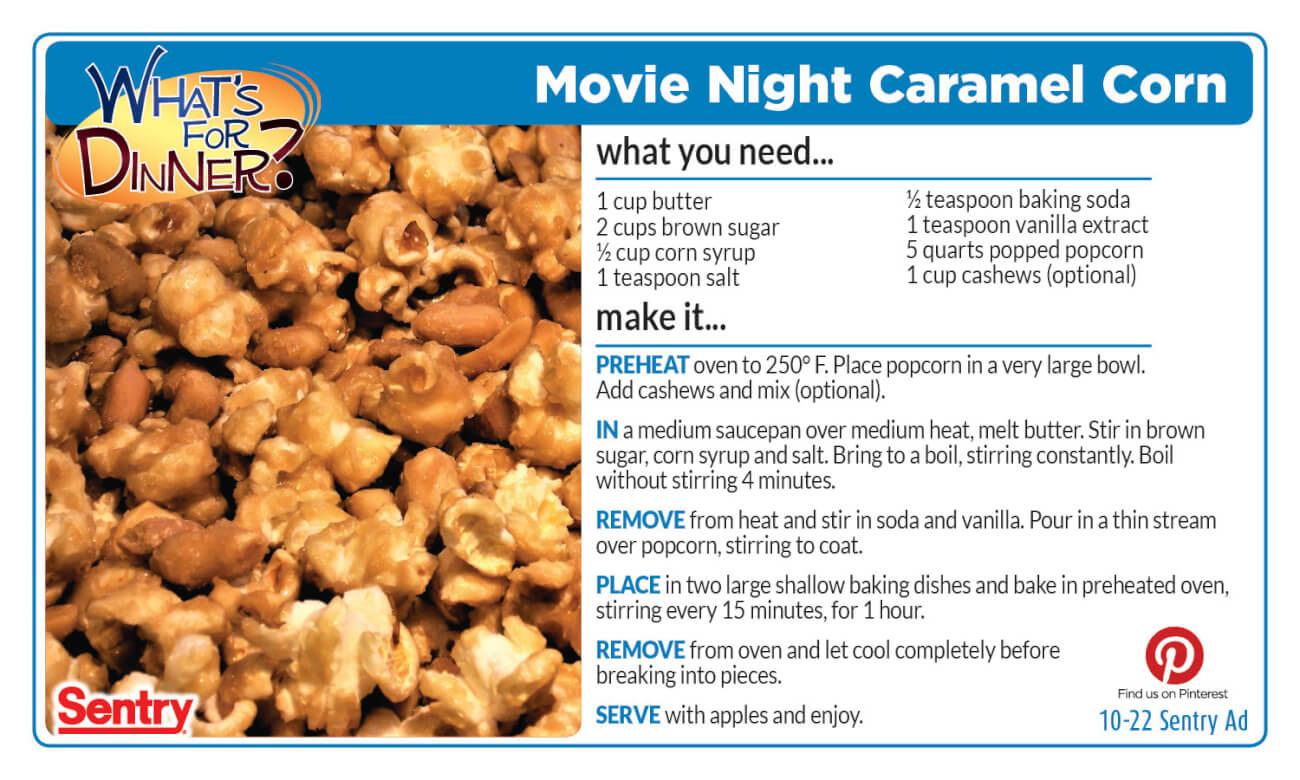 Movie Night Caramel Corn