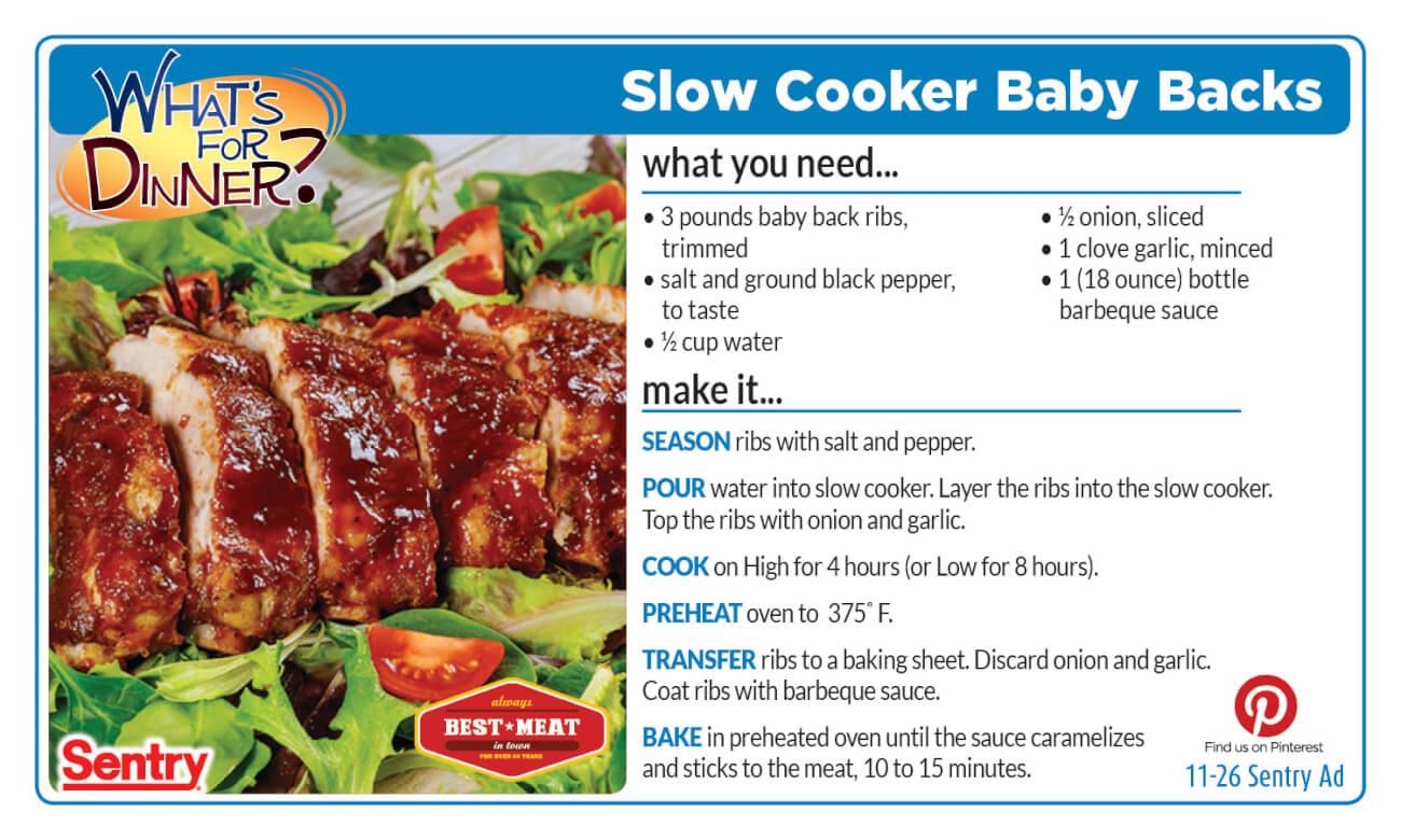 Slow Cooker Baby Backs