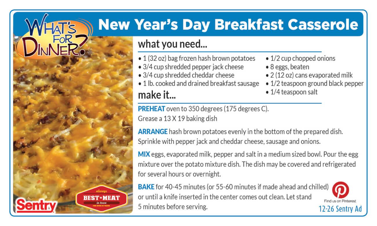 New Year's Day Breakfast Casserole