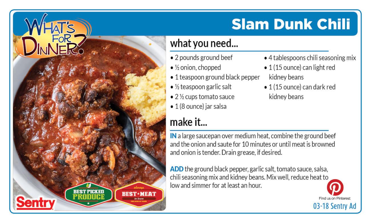 Recipe: Slam Dunk Chili