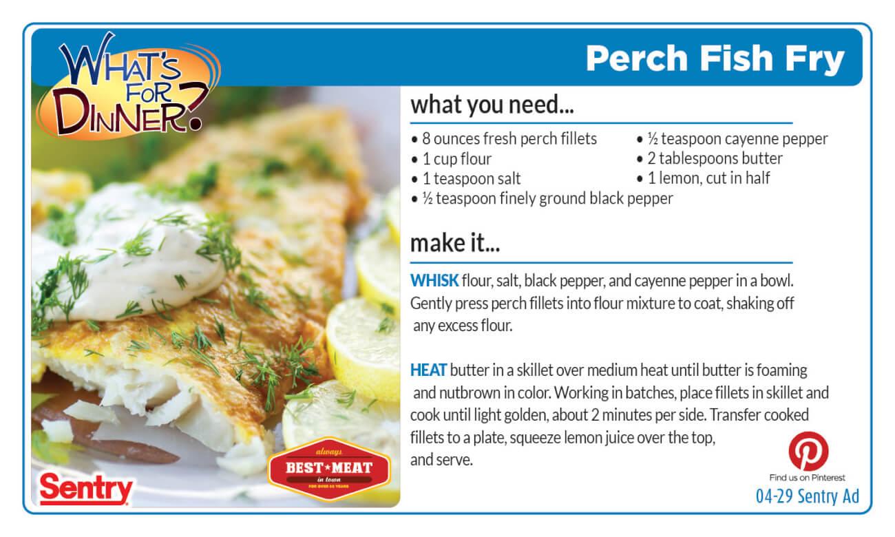 Perch Fish Fry Recipe Card