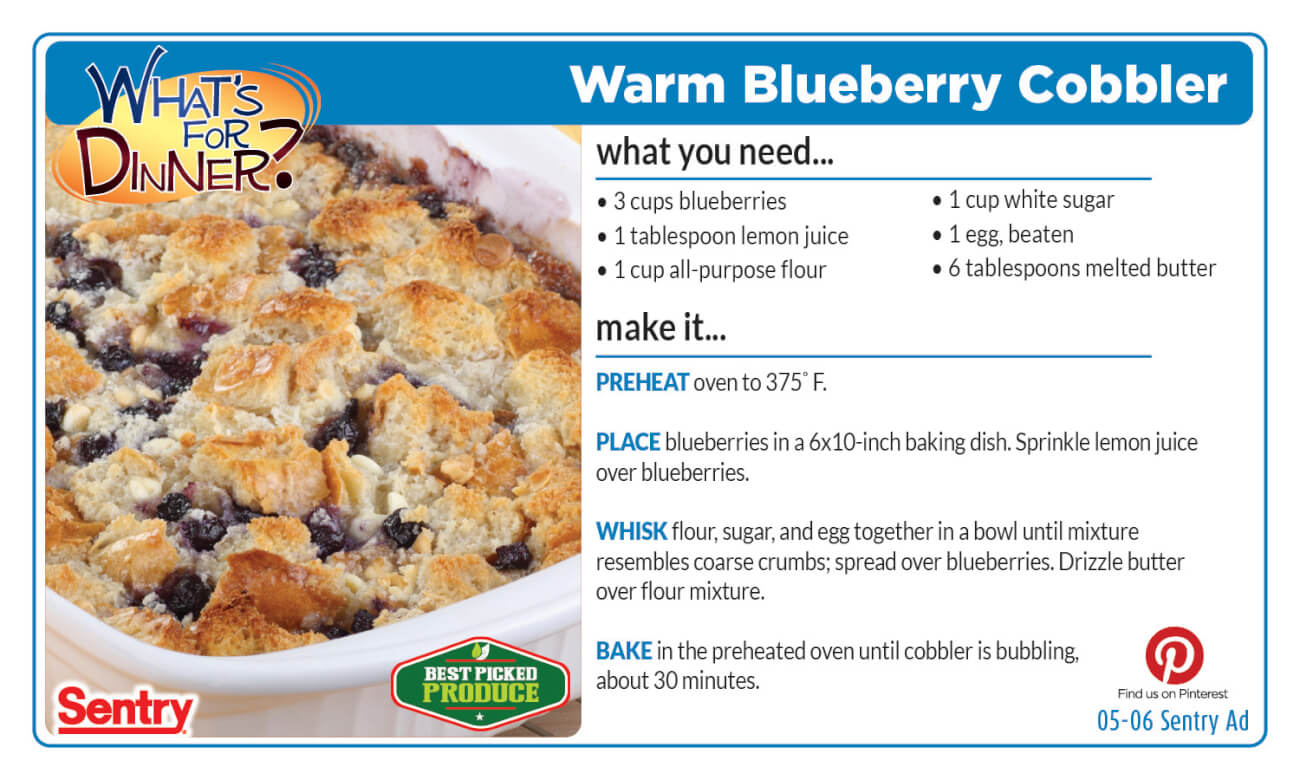 Recipe: Warm Blueberry Cobbler