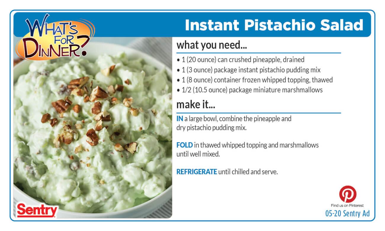 Instant Pistachio Salad Recipe Card