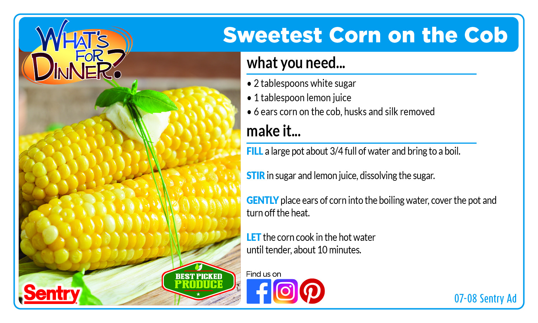 Recipe: Sweetest Corn on the Cob