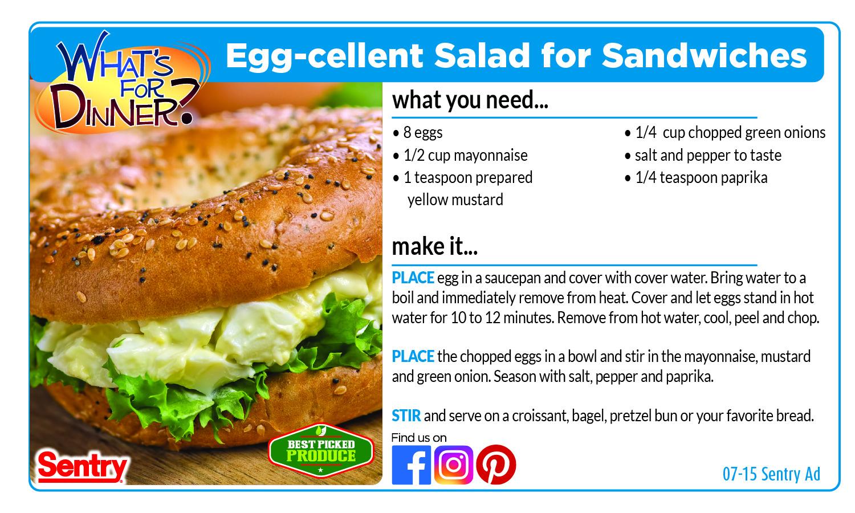 Recipe: Egg-cellent Salad for Sandwiches