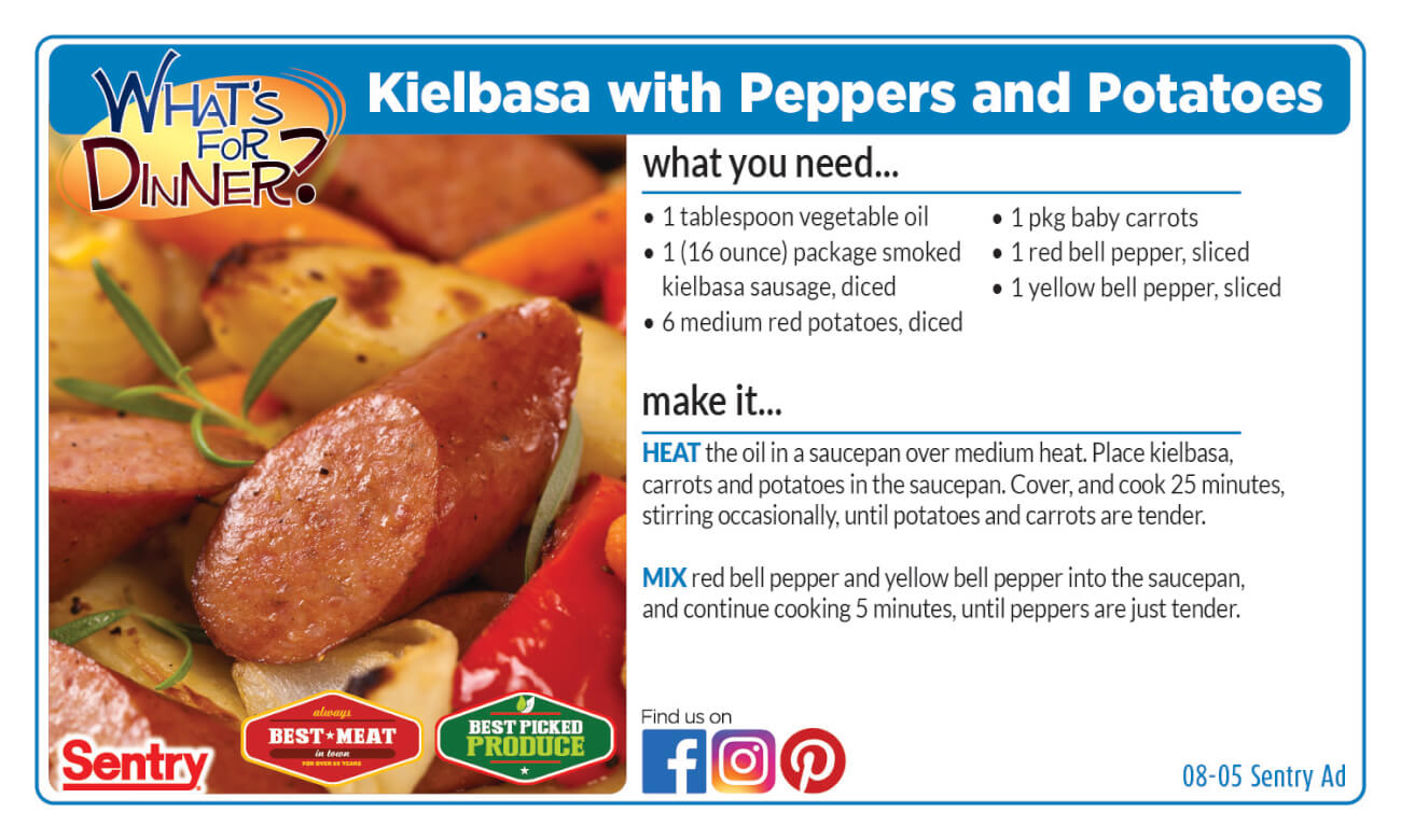 Recipe: Kielbasa with Peppers and Potatoes