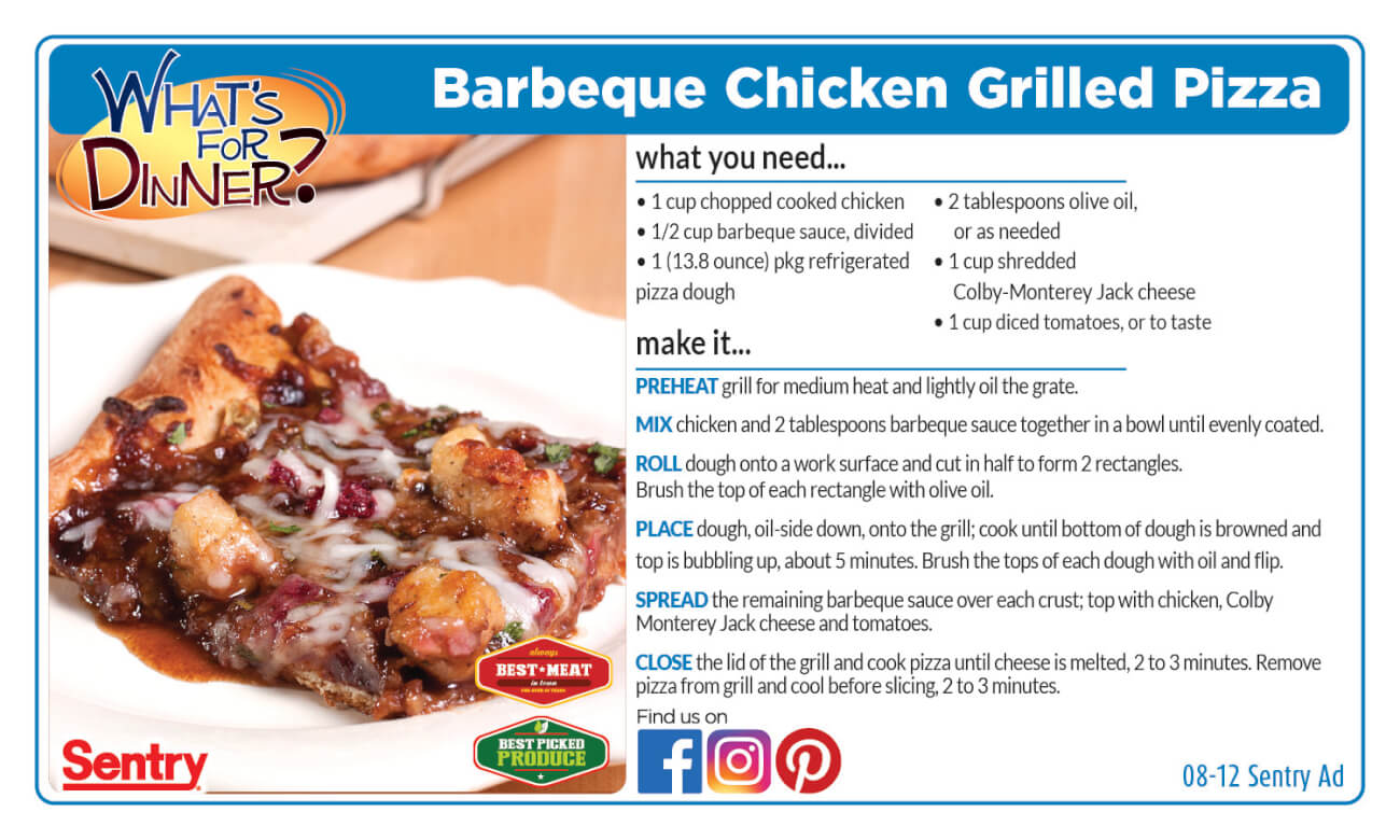 Recipe: Barbeque Chicken Grilled Pizza