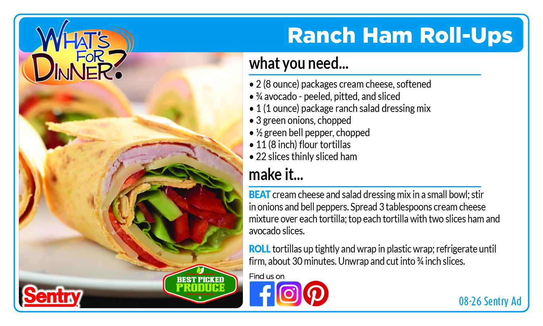 Recipe: Ranch Ham Roll-Ups