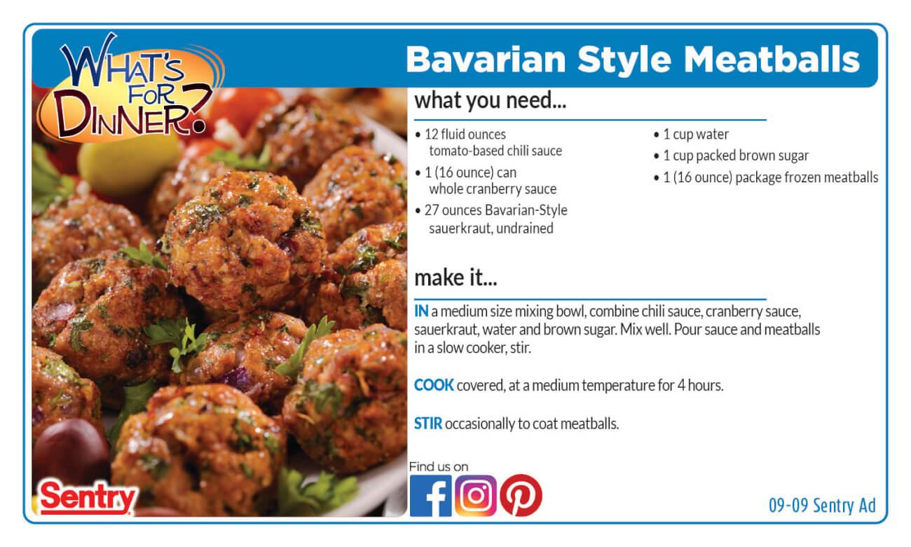 Recipe: Bavarian Style Meatballs