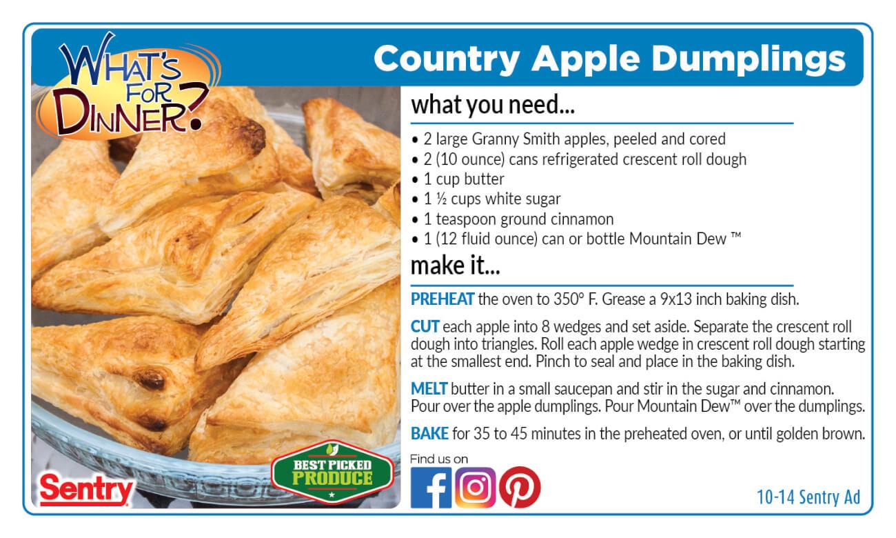 Recipe: Country Apple Dumplings